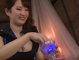 Busty Asian Osaki Mio gives incredible handjob picture 11