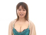 Miki Sato, busty woman, fucked by two young lads