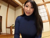 Big tits Saegusa Chitose pleasures herself picture 12