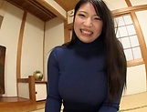 Big tits Saegusa Chitose pleasures herself picture 13