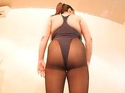 Chubby Japanese milf naughty porn play on cam
