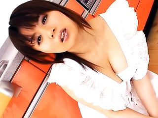 Miki Sato, Asian housewife, uses her big boobs to impress