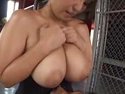 Japanese milf Haduki Naho begs for a steamy tit fuck