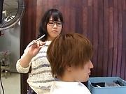 Hottie Kawai Mayu gets a messy facial.