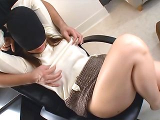 Busty Japanese chick in pink lingerie enjoys hardcore pounding