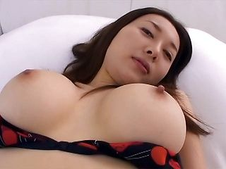 Sweetie with big tits Mai Uzuki enjoys toing and sucks cock on pov