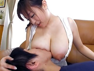 Gorgeous mature Asian Nana Aoyama, gets her huge tits licked