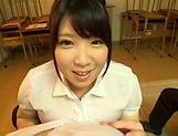 Amayoshi Shizuku makes a dude cum with her boobs