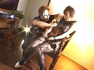 Sexy bondage loving mature Minami Hoshikawa gets stimulated with toys