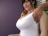 Busty Mikoto Yatsuka has her hole smashed picture 14