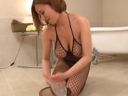 Saijou Ruri fucking so good in stockings