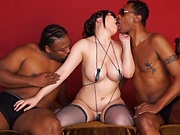 Saegusa Chitose gets rammed good in a threesome