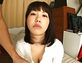 Horny Japanese babe, Anna Kishi gives amateur tit fuck picture 13