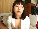 Horny Japanese babe, Anna Kishi gives amateur tit fuck picture 14