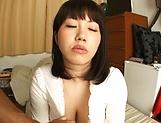 Horny Japanese babe, Anna Kishi gives amateur tit fuck
