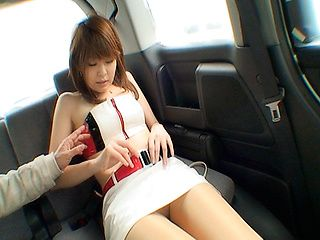 Nana Ayase Asian doll has hot car sex