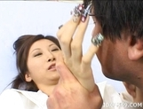 Chihiro Hara Sexy Nails To Sink Into Your Ass While She Is Sucking Your Cock picture 14