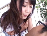 Lovely Tokyo maid Arisa Misato gives some licking services picture 13