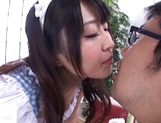 Lovely Tokyo maid Arisa Misato gives some licking services