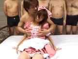 Pretty maid in a pink costume Aika Hoshizaki gets mouthful of jizz picture 7