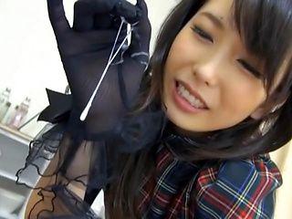Passionate JP model  in a sexy costume Chika Arimura shows off