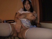 Busty amateur Asian  Tsukada Shiori beauty provides special toy porn