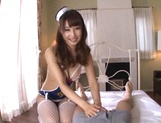 Petite AV model Shunka Ayami gives a perfect hand work with oil picture 11