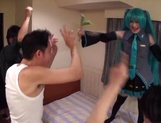 Horny Asian girl arranges a cosplay sex action gets banged by a group of guys picture 15