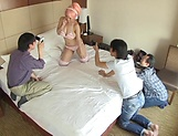 Huge tits Japanese babe Tsukada Shiori, creamed in dirty group picture 15