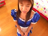 Nice Asian babe with a big ass, Mai Hagiwara gives head during cosplay picture 15