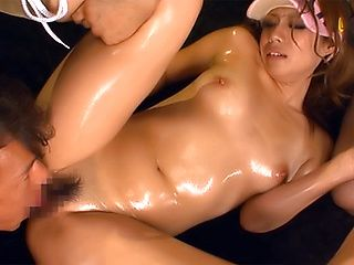 Hot Japanese threesome along sporty chick in heat