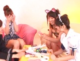 Hot Japanese teen gals grab sex toys to satisfy their pussies picture 10