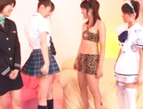 Hot Japanese teen gals grab sex toys to satisfy their pussies picture 3