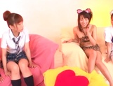 Hot Japanese teen gals grab sex toys to satisfy their pussies picture 5