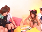 Hot Japanese teen gals grab sex toys to satisfy their pussies picture 6