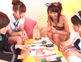 Hot Japanese teen gals grab sex toys to satisfy their pussies picture 7