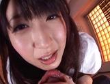 Mischievous cosplay lover Arisa Misato licks and deepthroats cock picture 12