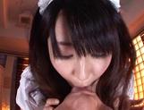 Mischievous cosplay lover Arisa Misato licks and deepthroats cock picture 14