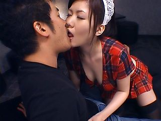Naughty maid endures sex until exhaustion