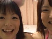 Horny Sayaka loves the taste of hot cock