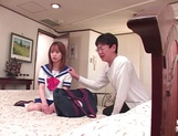 Cock sucking schoolgirl Moe Shinohara gets fucked until exhaustion picture 11