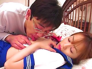 Cock sucking schoolgirl Moe Shinohara gets fucked until exhaustion