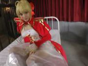 Blonde Japanese enjoys naughty sex cosplay