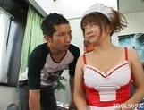 Cute Japanese Model With Big Tits Gets A Cockride From Her Guy