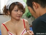 Cute Japanese Model With Big Tits Gets A Cockride From Her Guy picture 5