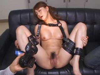 Hot Japanese milf experiences bondage sex screaming with pleasure