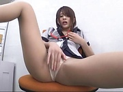 Delightful office fuck involving fine Asian babe