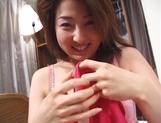 Lovely pussy of horny milf Moemi Takagi gets drilled and fucked on amateur video picture 1