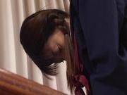 Horny schoolgirl, Sayaka Tsutsumi rubs her Asian pussy and gets banged