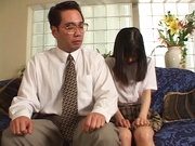 Young Japanese teen, Anna Kuramoto fucked by older guy
